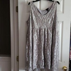Torrid Size 24 Silver lace dress